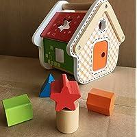 幼児期のゲーム 子供のためのブランドの新しい木の形のソーター幾何学的な並べ替えの家庭教育形状色認識玩具