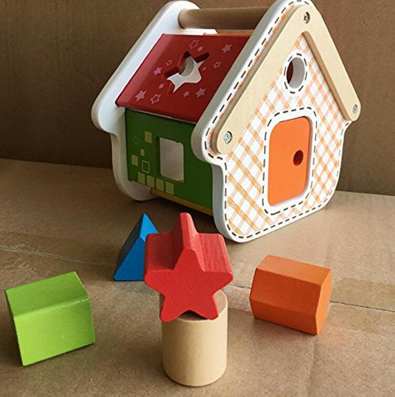 HuaQingPiJu-JP 子供のためのブランドの新しい木の形のソーター幾何学的な並べ替えの家庭教育形状色認識玩具