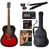 Sepia Crue アコースティックギター 初心者入門バリューセット フォークタイプ FG-10/RDS レッドサンバースト