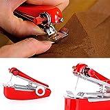 Auveach Portable Mini Fabrics Cordless Hand-Held Needlework Sewing Machine Clothes