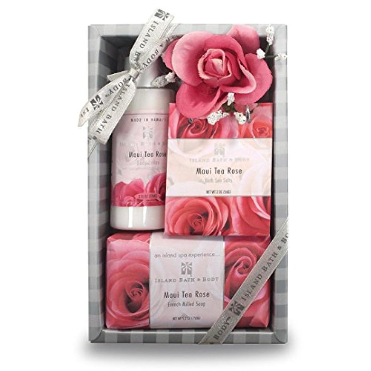 〈海外直送品〉Island Bath & Body Spa Experience Maui Tea Rose の'香りスパセット メイドインハワイ