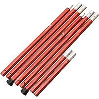【2本セット】ザキャンパー アルミポール 長さ 120~210cm (60cm×3節+30cm 1節) 直径28mm 赤 RED