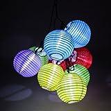 イルミネーションライト ソーラー 屋外飾り 学園祭 クリスマスツリー ハロウィン装飾 パーティー 配線不要 LEDガーデンライト イベント 結婚式 灯籠型 10球 ホワイト