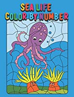 Sea Life Color By Number: Fun Sea Animals Coloring Boys & Girls, Advanced Coloring Pages for Girls