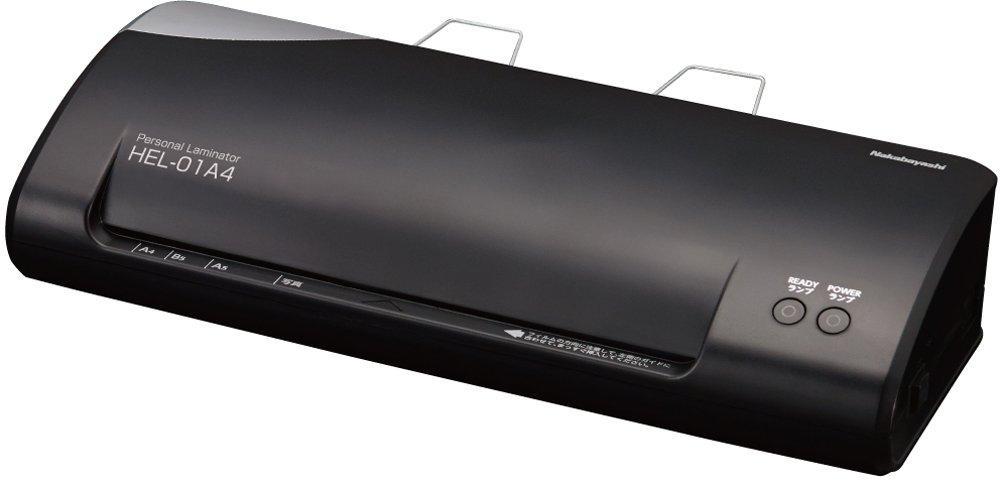 ナカバヤシ ラミネーター A4 ブラック HEL-01A4BK