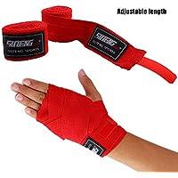 1ペアの弾性ボクシング/MMAはボクシングのキックボクシングのための手のラップをハンドラップするムエタイ4色オプション - 赤、白、青、黒