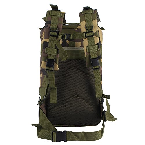 OUTAD アメリカ軍アサルト リュックサック ミリタリー リュック バッグパック 大容量 (ジャングル迷彩)