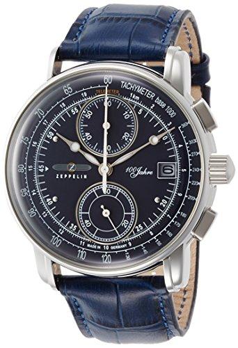 [ツェッペリン] 腕時計 100周年 ブルー文字盤 86703 正規輸入品 ブルー