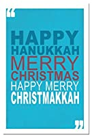 Tree-Free Greetings EcoNotes 12-Count Hanukah Card Set with Envelopes 4 x 6 Christmakkah (93452) [並行輸入品]
