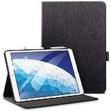 ESR iPad Air 2019 ケース iPad Air3 10.5インチ レザー 合皮 スリムフィット シンプル 手帳型 スエード柔らかな内側 スタンド機能 オートスリープ 傷つけ防止 二つ折 iPad 10.5インチ 2019年版対応(ブラック)