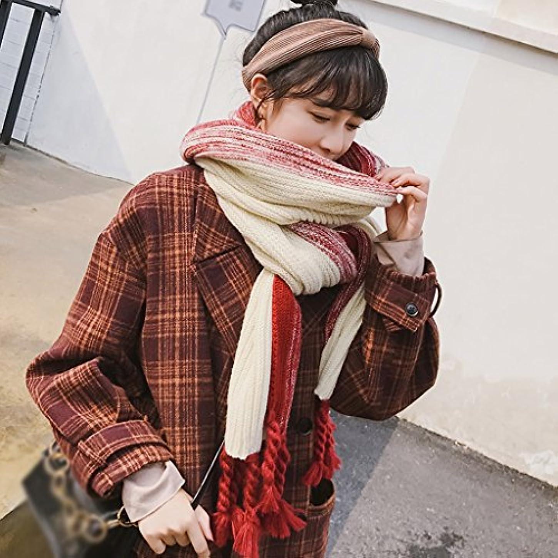 注入協定折GAODUZI スカーフ女性冬のニットレトロ太い暖かい学生のニットスカーフ秋と冬