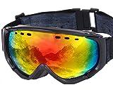 PONTAPES(ポンタペス) スノーボード ゴーグル 全6色 メンズ レディース ダブルレンズ Revo ミラーレンズ PNP-781 BLK/P_BLK/RED スキーゴーグル スキー スノー用ゴーグル スノーゴーグル スノー ゴーグル スノボ スノボー スノーボードゴーグル ダブル レンズ ミラー レンズ