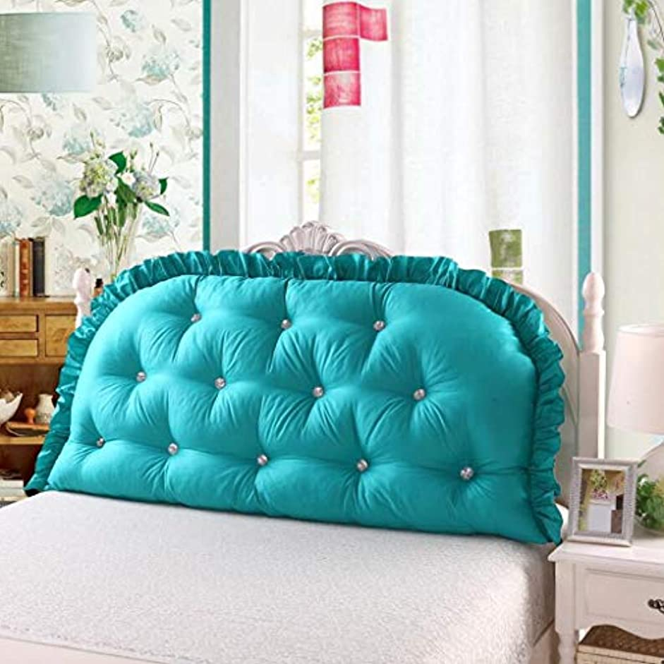 再開重要恋人コットンプリンセスベッドサイドクッションマルチカラーオプションの大きなバックコットンベッドソフトバッグクッションダブル枕取り外し可能と洗える Zsetop (Color : C, Size : 150*80cm)