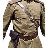 【豪華6点セット】ソビエト製 ロシア ギムナスチョルカ ベルト ホルスター 軍服 オリーブ色 本物