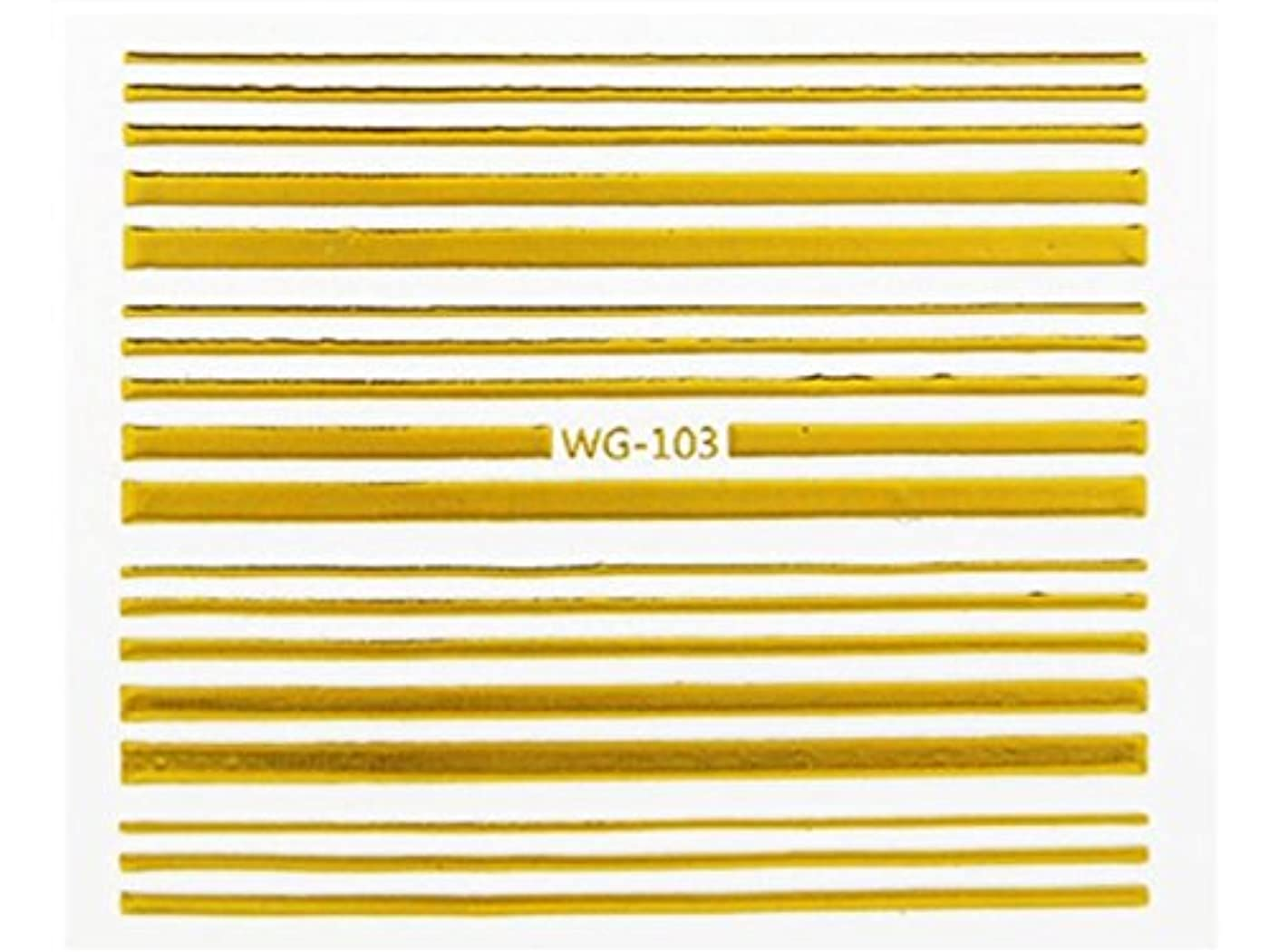 昆虫を見るサイトライン見通しOsize ファッションウォーターマーク美しいヒントホットスタンピング3Dネイルステッカーネイルデカール刻印ネイルステッカー(WG-106ゴールデン)