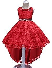 LawLauder超綺麗子供フォーマルワンピース子供ドレスハイローテイラードレス演奏会 発表会 結婚式 入園式ドレス