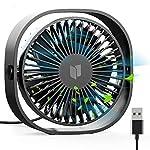 扇風機USB 卓上扇風機 携帯扇風機 ミニ扇風機【2019最新版】小型 超静音 超強風 3段階風量調節 360度角度調整 空調補助 熱中症対策 コンパクト 持ち運びに便利 卓上ミニファン (ブラック)