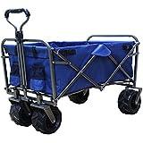 DABADA(ダバダ) キャリーカート 耐荷重150kg 容量95L アウトドアワゴン 折りたたみ 軽量 大型タイヤ 4輪