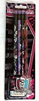 Monster High Clawsome 2号Real Wood Pencils–パックof 4