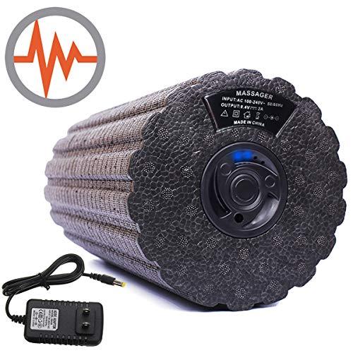 Fitvc-電動 フォームローラー 3Dマッサージロール ストレッチロール 振動 マッサージポール ローラー 4段階振動調整 電動マッサージ ストレッチポール 筋膜リリース ローラー 日本語取扱説明書付き