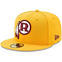New Era New Era Washington Redskins Gold Classic Omaha 59FIFTY Fitted Hat 服 7_1_4. 【並行輸入品】