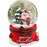 FEOOWV クリスマスグリッタークリスタルボールオルゴール