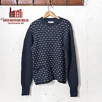 Made in USA 【Ohio Knitting Mills】オハイオ ニッティング ミルズ Dotted Diamonds ドットダイヤモンド クルーネック セーター MARITIME(ネイビー)