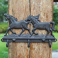 HZB アメリカのフック、農村アンティークの鋳鉄工芸品、アイロンバインディングウォール、壁掛け、ダブルホック。