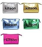 KITSON KITSON(キットソン) KITSON キットソンNEW カラー コスメポーチkitson Star Cosmetic Bag ポーチシルバー、ゴールド、メタリックブルー、メタリックグリーン、ピンク(Star Cosmetic Bag)