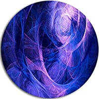 Designart MT7907-C11 Bright Blue Stormy Sky Abstract Digital Art Disc Metal Wall Art 11 x 11 Blue [並行輸入品]