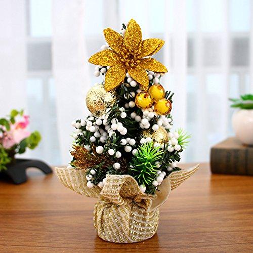 Christmas Tree Desktop Mini Christmas Tree Christmas Decoration Ornament(Golden)