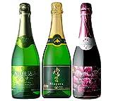 【料理とのマリアージュにおすすめ】国産スパークリングワイン飲み比べ 3本セット 720ml×3本