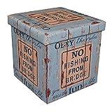 ボックススツール 折りたためる 収納ボックス スツール No.14 合成皮革