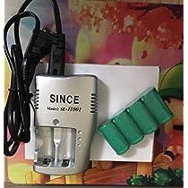 セール!CR123A 3.0V 充電池4本 + 充電器 セット