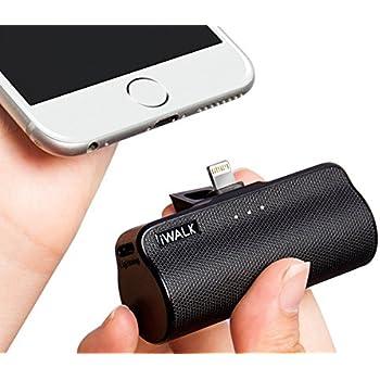 iWALK モバイルバッテリー 軽量 3300mAh 小型 lightning コネクター内蔵 iPhone 6 iPhone 6 Plus iPhone7 iPhone6s plus 対応(ブラック)