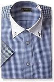 (ピーエスエフエー)P.S.FA(ピーエスエフエー) 形態安定 半袖クレリックボタンダウンワイシャツ/その他 P162160009 87 ネイビー L(首回り41cm)