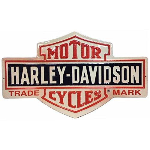 ハーレーダビッドソン ブリキ看板 メタル プレート Harley Davidson -Bar&Shield- バイク アメリカン雑貨 アメリカ 雑貨 ハーレー グッズ