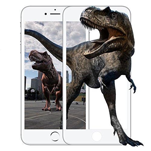 【Apple社認定商品】iPhone8 / iPhone7 フィルム [memumi]液晶全面保護フィルム 強化ガラス アイフォン8 ガラスフィルム 【3D Touch対応 / 硬度9H / 気泡ゼロ / 指紋防止 / 高感度タッチ】 (ホワイト)