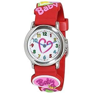 [クレファー]CREPHA 腕時計 こどもウォッチ アナログ表示 3気圧防水 レッド AZ-BAK-4132-RD ガールズ