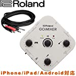 Roland ミキサー接続用ケーブルセット GO:MIXER ステレオミニ→標準フォン×2 変換ケーブル3m付