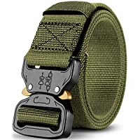 Men's Tactical Belt, Strong Quick Release Adjustable Military Style Nylon Belts