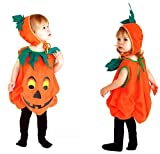 Kids Halloween Soft and Comfy Pumpkin Infant Costume キッズ ハロウィン パンプキン ワンピース 衣装 コスプレ 子供用 (帽子 かぼち..
