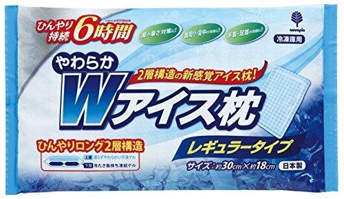 紀陽除虫菊 発熱に やわらかWアイス枕 レギュラータイプ