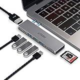 UTASU USB Type C ハブ 8-in-1 マルチUSB-C ハブ Macbook Pro 13/15 インチ 対応 Thunderbolt 3ポート搭載40Gbps高速データ転送5K@60Hz/100W PD急速充電/4K HDMI/USB 3.0ポートx3 /SD&MicroSD カードスロット/MacBook Air 2018 MacBook Pro2016/2017/2018に対応