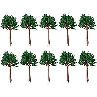 Mxfans 10個/20個 入れ モデルツリー 樹木 情景コレクション ジオラマ 建築模型 風景装飾用 ツリー (10個 13cm X001980)