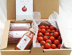 お試しセット 「おもいろトマト」(約600~700g) と「おもいろトマトジュース180ml」×3