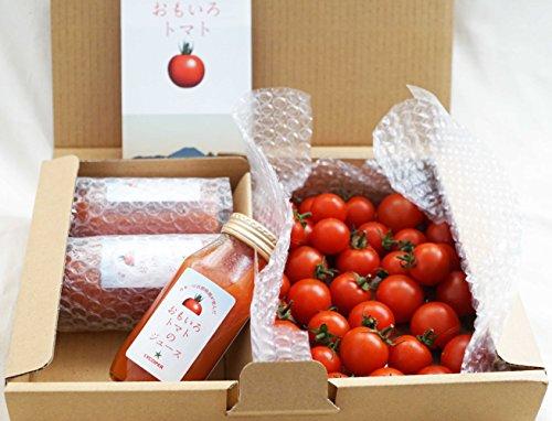 おもいろトマトお試しセット 「おもいろトマト」(約600~700g)と「おもいろトマトジュース180ml」×3