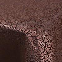 RFQL テーブルクロス、テーブルカバー テーブルクロスホームモダン、正方形の長方形のテーブルクロス、会議用テーブルクロス防水厚、2色 (色 : Coffee color, サイズ さいず : 180*300cm)