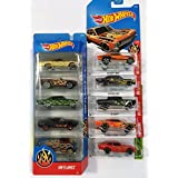 10 Hot Wheels FLAMES Vehicles Bundle #2 : HW FLAMES 5-Pack '65 Chevy Impala '69 Camaro '66 Chevy Nova '67 Shelby GT400 Custom '77 Dodge Van & 5 Hot Wheels Flamed (Pictured) [並行輸入品]