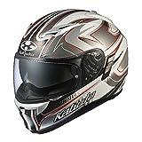オージーケーカブト(OGK KABUTO)バイクヘルメット フルフェイス KAMUI2 SIPRO(シプロ) ホワイトシルバー (サイズ:L) 577599
